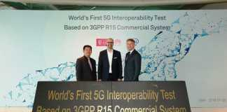 World's first 5G NR Interoperability test based on 3GPP R15 commercial system release