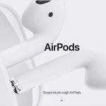 Apple: svelati gli AirPods di seconda generazione