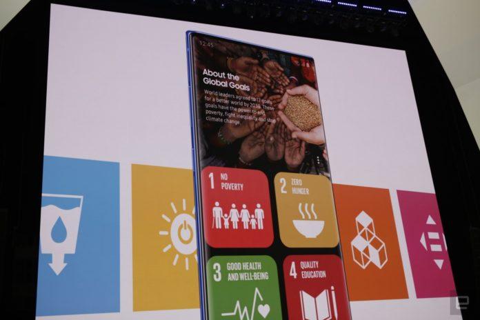 Samsung e il Programma delle Nazioni Unite: arriva l'app