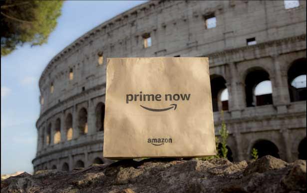 Amazon amplia la selezione Prime Now nella Capitale