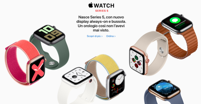 Apple Watch Series 5: display Always On, bussola integrata e watchOS 6