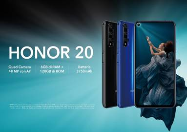HONOR20 : lo smartphone con display da 6.2