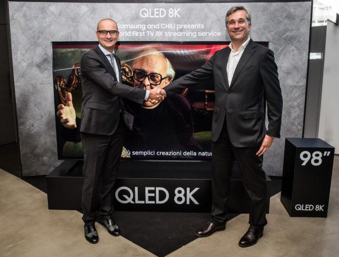Samsung e CHILI presentano il primo servizio streaming in 8K al mondo