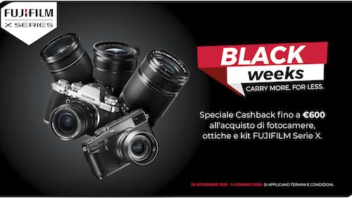 Fujifilm Black Weeks: il Cashback su 3 fotocamere della Serie X
