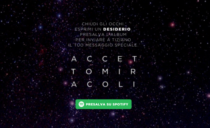 Spotify coinvolge tutti i fan di Tiziano Ferro per il lancio del nuovo album