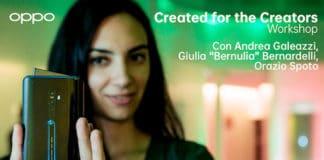Oppo: quattro workshop per imparare come creare contenuti con Reno2