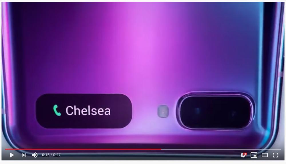 Unica vera certezza fino alla presentazione del Galaxy Z Flip: lo schermo esterno per notifiche e dettagli di chiamata