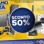 Euronics, Facciamo a metà: la campagna dal 6 al 19 febbraio