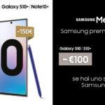 Samsung sconta S10 e Note 10 di 100€ e 150€ fino al 19 Marzo