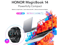 Honor MagicBook 14: ecco l'offerta con MagicWatch 2