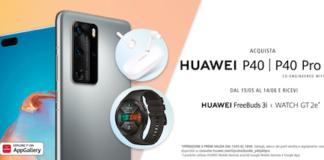 Con Huawei P40 e P40 Pro in regalo Watch GT2e e FreeBuds 3i