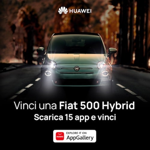 Huawei AppGallery regala una Fiat 500 Hybrid Launch Edition