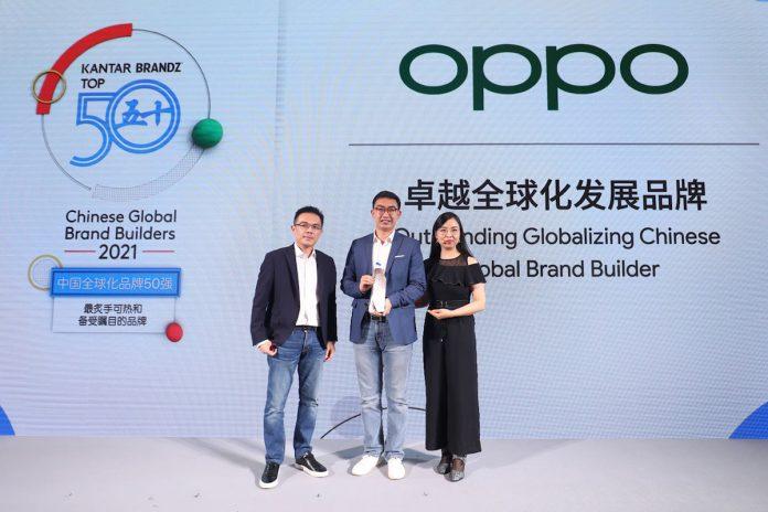 Oppo Outstanding Globalizing Chinese Global Brand Builder_Google e KANTAR